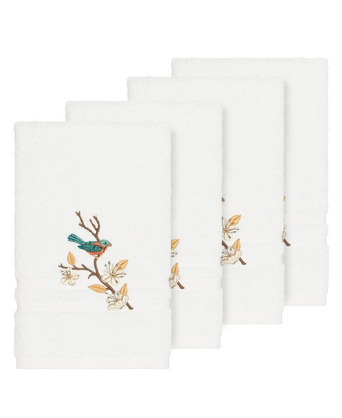 Linum Home - Turkish Cotton Springtime 4-Pc. Embellished Hand Towel Set