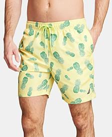 """Men's Pineapple-Print 8"""" Swim Trunks"""
