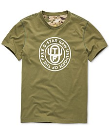 G-Star RAW Men's Uniform Of The Free Logo Graphic T-Shirt