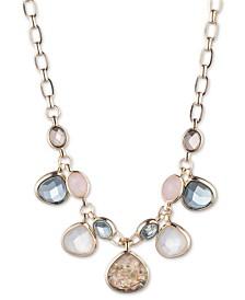 "Anne Klein Gold-Tone Stone Shaky 17"" Strand Necklace"