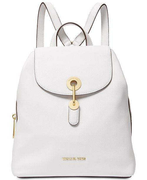 Michael Kors Raven Leather Backpack