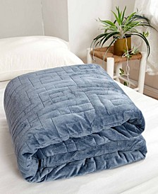 Dreamtheory 20 lbs Microfiber Weighted Blanket with Minky Duvet Cover
