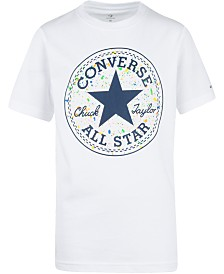 Converse Big Boys All Star Splatter-Print Logo T-Shirt