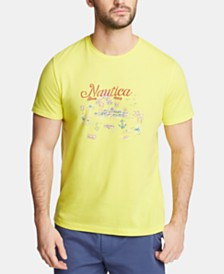Nautica Men's Blue Sail Palm Beach Cotton Graphic T-Shirt, Created for Macy's