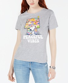 Peanuts Juniors' Snoopy Graphic T-Shirt by Love Tribe