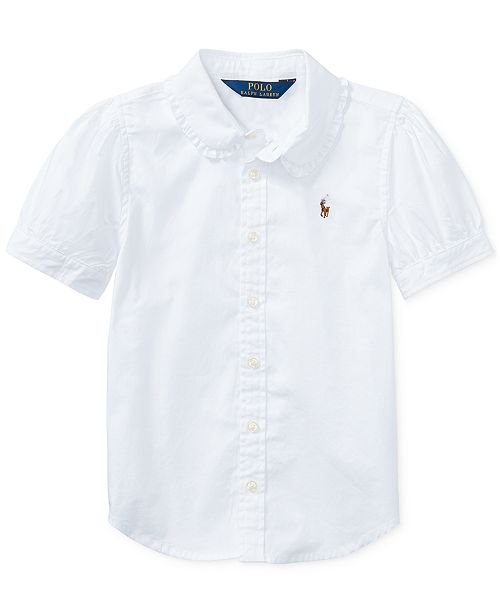Polo Ralph Lauren Little Girls Solid Oxford Top