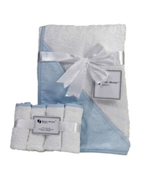 Image of Hooded Baby Towel with Wash Cloth Bundle