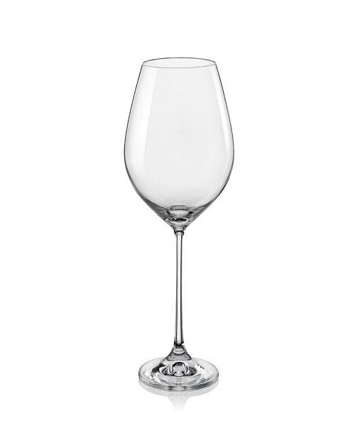 Red Vanilla Viola Burgundy Wine Glass 19 Oz, Set of 6