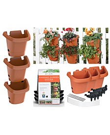 3 Pack Hanging Garden Planter Kit