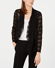 Drape Front Mesh Jacket, Created for Macy's
