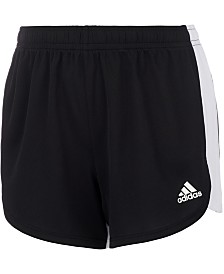 adidas Little Girls Three-Stripe Colorblocked Shorts