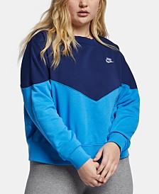 Nike Plus Size Sportswear Heritage Cropped Fleece Sweatshirt