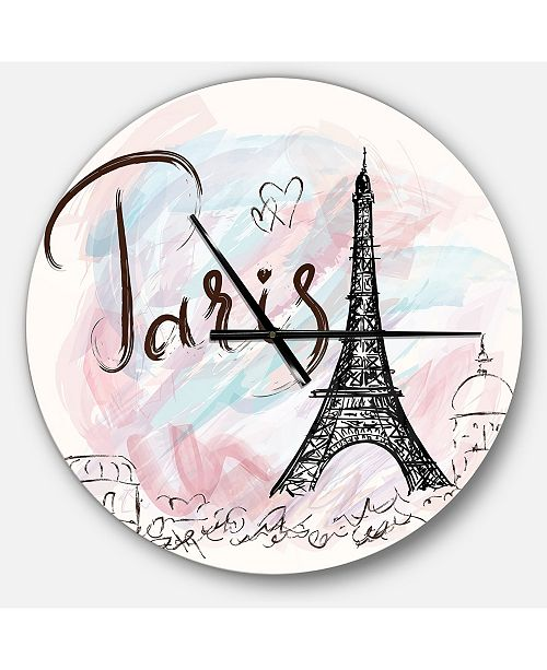 Design Art Designart Oversized French Country Round Metal Wall Clock