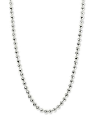 """Beaded 16"""" Chain Necklace in 14k White Gold"""