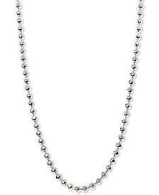 "Beaded 16"" Chain Necklace in 14k White Gold"