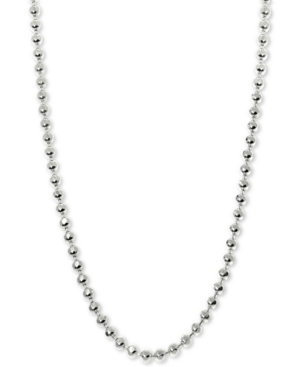 "Image of Alex Woo Beaded 16"" Chain Necklace in 14k White Gold"