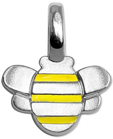 Alex Woo Enamel Bee Mini Charm in Sterling Silver