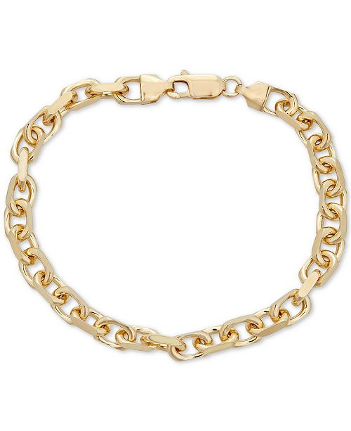 Macy's Oval Rolo Chain Bracelet in 18k Gold Over Sterling Silver