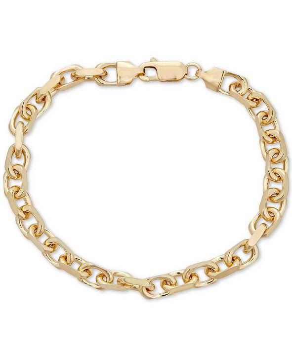 Macy's Oval Rolo Chain Bracelet in 18k Gold Over Sterling Silver