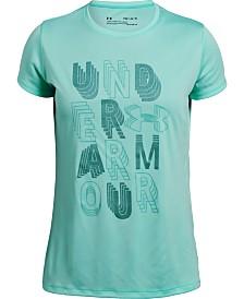 Under Armour Big Girls Linear Wordmark Graphic T-Shirt