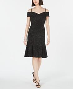 3cc90a0d2 Nightway Cold-Shoulder Glitter Sheath Dress