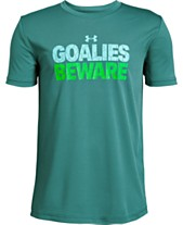 533eee30f4f Under Armour Big Boys Goalies Beware Graphic T-Shirt