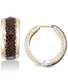 Leopard Print Hoop Earrings in 18k Gold-Plated Sterling Silver