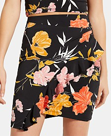 GUESS Mairin Printed Ruffled Skirt