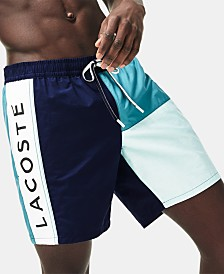 "Lacoste Men's Classic Colorblocked 6.5"" Swim Trunks"