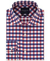 28ce83f5 Tommy Hilfiger Men's Slim-Fit Non-Iron THFlex Supima® Stretch Bold Check  Dress