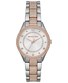 Michael Kors Women's Mini Lauryn Two-Tone Stainless Steel Bracelet Watch 33mm
