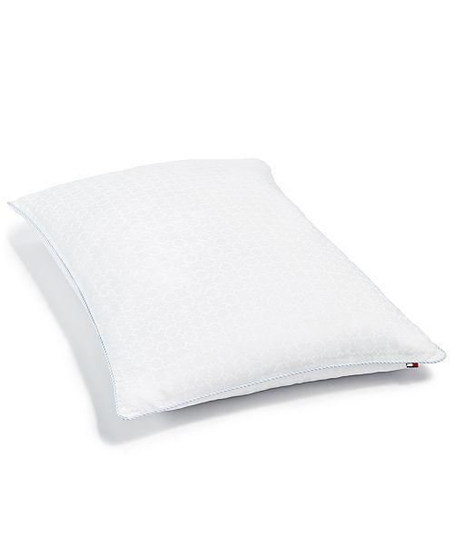 Tommy Hilfiger Corded Classic Down Alternative Firm-Density Standard/Queen Pillow, Hypoallergenic SupraLoft™ Fiberfill