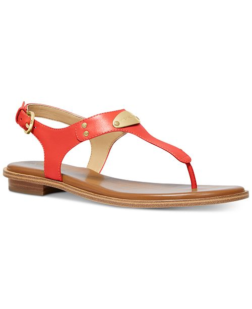 217a9769a94 Michael Kors MK Plate Flat Thong Sandals & Reviews - Sandals & Flip ...