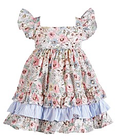 Bonnie Baby Baby Girls Multicolor Floral-Print 3-Tiered Dress
