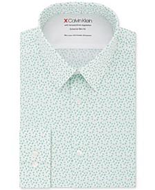 X Men's Extra-Slim Fit Temperature Regulating Stretch Floral Dress Shirt