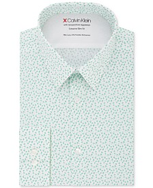 Calvin Klein X Men's Extra-Slim Fit Temperature Regulating Stretch Floral Dress Shirt