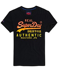 Men's Vintage Authentic Fade Logo Graphic T-Shirt