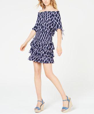 Printed Tiered Ruffled Skirt, Regular & Petite