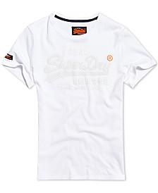 Superdry Men's Vintage Logo Monochrome Textured Graphic T-Shirt