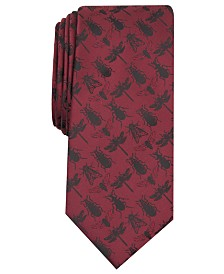 I.N.C. Men's Beatles & Insects Skinny Tie, Created for Macy's