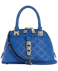 a66090ce2aaa GUESS Peony Debossed Logo Dome Satchel