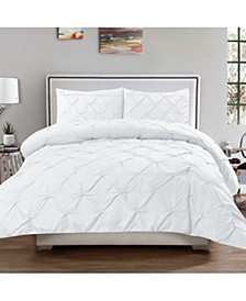 Queen 3-Pc Pintuck Duvet Cover Set
