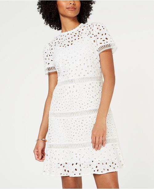 1dec502acaac Michael Kors Eyelet-Embroidered Circle-Trim Dress & Reviews ...
