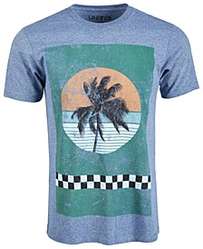 Men's Checker Palm Graphic T-Shirt