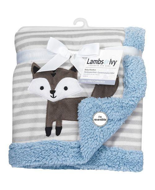 Lambs & Ivy Stay Wild Fox Baby Blanket