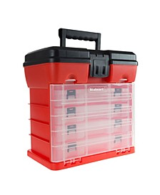 Storage and Tool Box - Durable organizer Utility Box - 4 Drawers with 19 Compartments Each by Stalwart