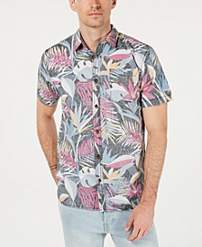 Men's Sessions Modern-Fit Tropical-Print Shirt