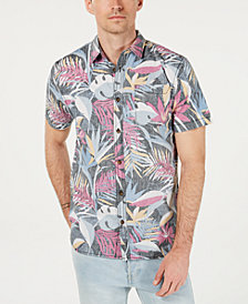 O'Neill Men's Sessions Modern-Fit Tropical-Print Shirt