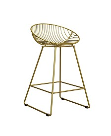 Cosmoliving Ellis Wire Counter Stool