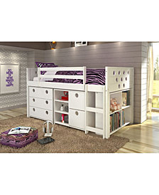Twin Circles Low Loft Bed Group Set